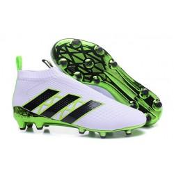 Scarpe da Calcio Nuove adidas Ace16+ Purecontrol FG Bianco Verde Nero