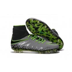 Scarpa da Calcio Nike Hypervenom Phantom 2 FG ACC Platino Puro Verde Nero