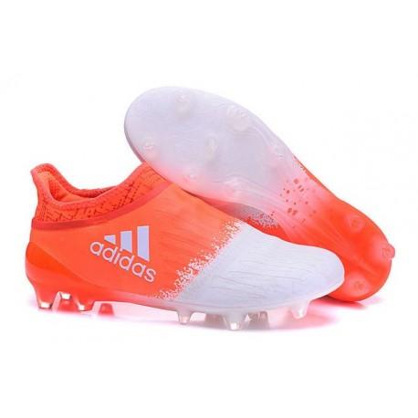 Scarpe da Calcio 2016 Adidas X 16+ Purechaos FG Bianco Rosso