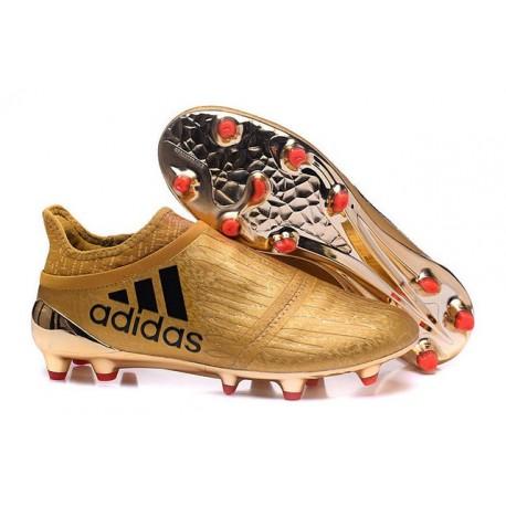 Scarpe da Calcio 2016 Adidas X 16+ Purechaos FG Oro Nero