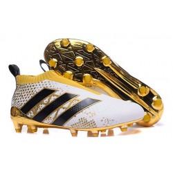 Adidas Stellar Pack Scarpini Ace16+ Purecontrol FG Bianco Oro Nero
