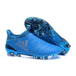 Scarpe da Calcio 2016 Adidas X 16+ Purechaos FG Blu Metallico
