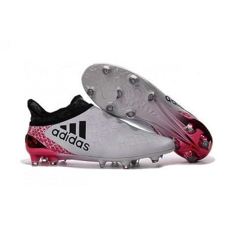 Scarpe da Calcio 2016 Adidas X 16+ Purechaos FG Bianco Nero Rosso
