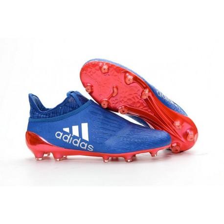 Scarpe da Calcio 2016 Adidas X 16+ Purechaos FG Blu Rosso