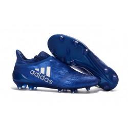 Adidas X 16+ Purechaos FG Nuovo Scarpa da Calcio Blu Metallico