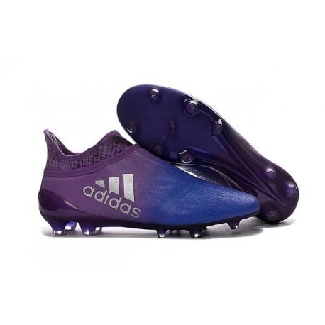 Adidas X 16+ Purechaos FG Nuovo Scarpa da Calcio Viola Blu