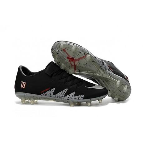 Scarpe da Calcio Nike Hypervenom Phinish Neymar x Jordan FG Nero Metallico