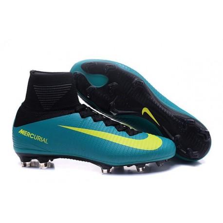 quality design 4c29d fb00b Nike Mercurial Superfly 5 FG Scarpa da Calcio Uomo Blu Giallo