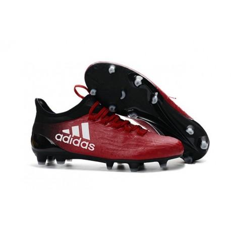 Scarpa da Calcio Nuovo 2016 Adidas X 16.1 FG Rosso Nero Bianco