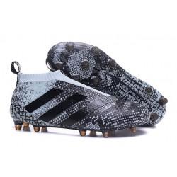 Adidas Scarpini da Calcio Ace16+ Purecontrol FG Nero Grigio