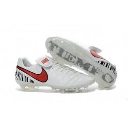 Scarpa Calcio Nuovi Nike Tiempo Legend VI FG Con Tacchetti Bianco Rosso