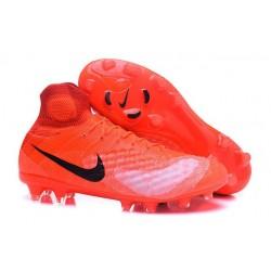 Scarpa Calcio Nike Magista Obra 2 FG ACC Rosso Nero