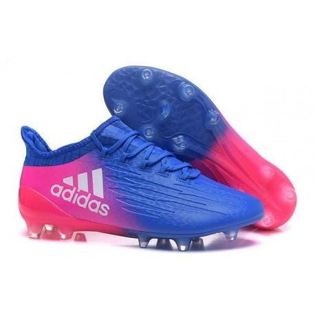 Scarpa da Calcio Nuovo Adidas X 16.1 FG Blu Rosa