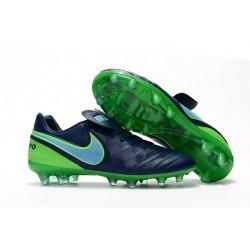 Scarpa Calcio Nuovi Nike Tiempo Legend VI FG Con Tacchetti Nero Verde