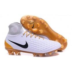 Scarpa Calcio Nike Magista Obra 2 FG ACC Bianco Oro
