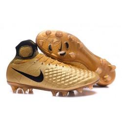 Scarpe da Calcio Nuovo Nike Magista Obra II FG ACC Oro Nero