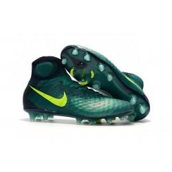 Scarpe da Calcio Nuovo Nike Magista Obra II FG ACC Verde Volt