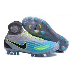 Scarpe da Calcio Nuovo Nike Magista Obra II FG ACC Grigio Blu Nero