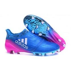 Adidas X 16+ Purechaos FG Nuovo Scarpa da Calcio Blu Rosa