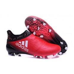 Adidas X 16+ Purechaos FG Nuovo Scarpa da Calcio Rosso Nero