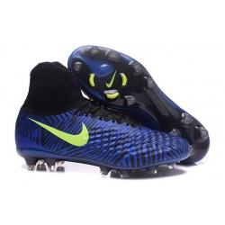 Scarpe da Calcio Nuovo Nike Magista Obra II FG ACC Blu Nero Giallo