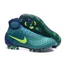 Scarpe da Calcio Nuovo Nike Magista Obra II FG ACC Verde Giallo