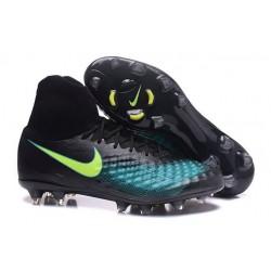 Nike Magista Obra 2 FG Scarpa da Calcio Uomo Nero Blu Giallo
