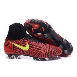 Nike Magista Obra 2 FG Scarpa da Calcio Uomo Rosso Nero Giallo