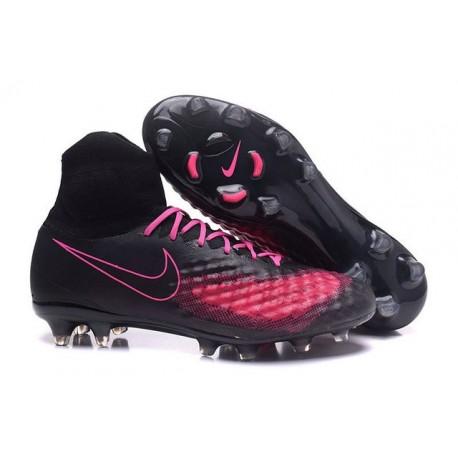 Nike Magista Obra 2 FG Scarpa da Calcio Uomo Nero Rosa
