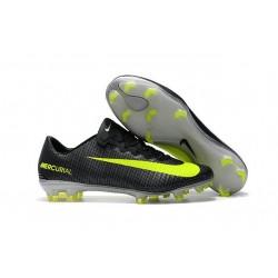 Scarpa Calcio - Nike Mercurial Vapor 11 CR7 FG - Nero Giallo