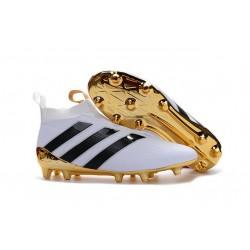 Adidas Scarpini da Calcio Ace16+ Purecontrol FG Bianco Nero Oro