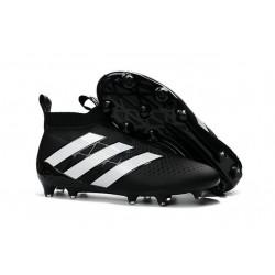 Adidas Scarpini da Calcio Ace16+ Purecontrol FG Nero Bianco
