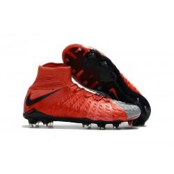 Nike Scarpe Calcio Hypervenom Phantom III DF FG Uomo - Rosso Grigio
