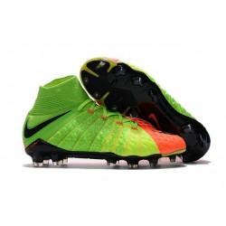 Nike Scarpe Calcio Hypervenom Phantom III DF FG Uomo - Verde Arancio Nero