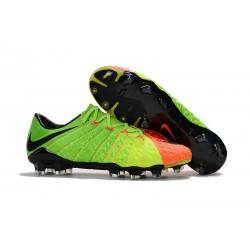 Scarpa da Calcio Nike Hypervenom Phantom III FG ACC Verde Nero Arancio