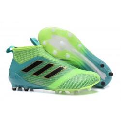 adidas ACE 17+ PureControl FG Scarpa da Calcio Uomo - Verde Blu Nero