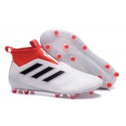 adidas ACE 17+ PureControl FG Scarpa da Calcio Uomo - Bianco Rosso Nero
