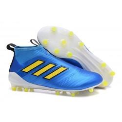 adidas ACE 17+ PureControl FG Scarpa da Calcio Uomo - Blu Giallo
