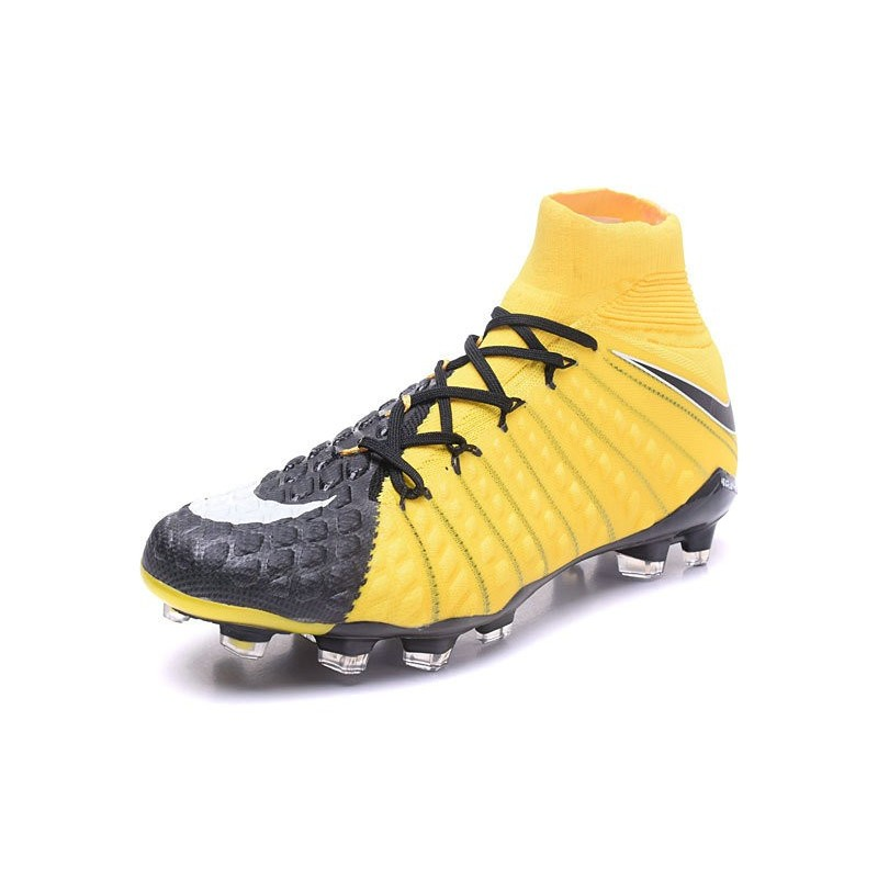 Nike Hypervenom Phantom Fit III Dynamic Fit Phantom FG Scarpa da Calcio Giallo Nero 25991f