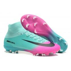 Nuovo Scarpa Calcio Nike Mercurial Superfly 5 FG ACC - Blu Rosa Nero