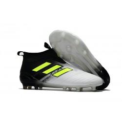 adidas Nuove ACE 17+ PureControl Laceless FG Scarpe (Nero Giallo Bianco)