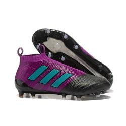 adidas Nuove ACE 17+ PureControl Laceless FG Scarpe (Viola Nero Blu)