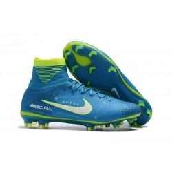 Nuovo Scarpa Calcio Neymar Nike Mercurial Superfly 5 FG ACC - Blu Verde