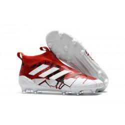 Scarpe adidas ACE 17+ PureControl FG Uomo - Rosso Bianco