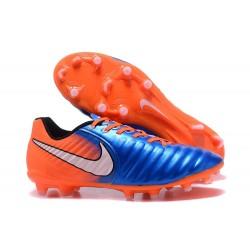 Nike Tiempo Legend VII FG ACC Nuovo Scarpa - Blu Arancio