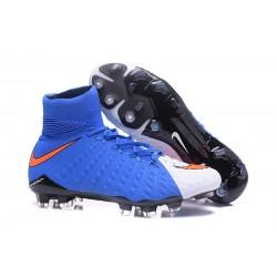 Nike Hypervenom Phantom III Dynamic Fit FG Scarpa da Calcio Blu Bianco Rosso