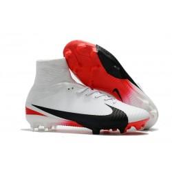 Nuovo Scarpa Calcio Nike Mercurial Superfly 5 FG ACC - Bianco Rosso Nero