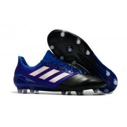 Scarpe da Calcio Uomo adidas Ace 17.1 Leather Fg Blu Bianco Nero