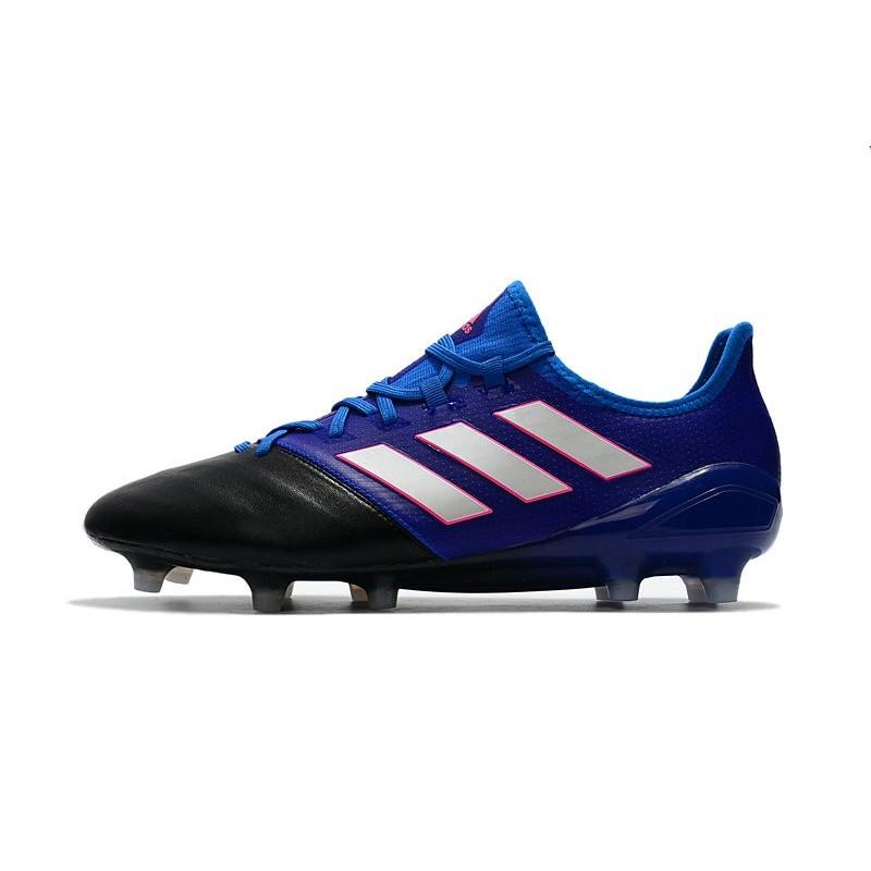 hot sale online 47ae7 b81d1 Scarpe da Calcio Uomo adidas Ace 17.1 Leather Fg Blu Bianco Nero