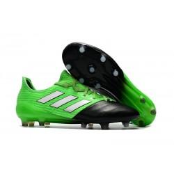 Scarpe da Calcio Uomo adidas Ace 17.1 Leather Fg Verde Nero Metal